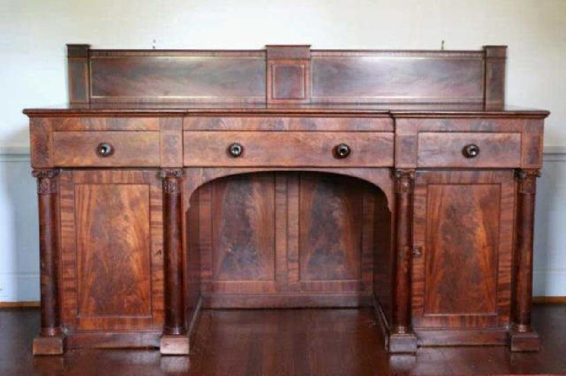 AMERICAN ANTIQUE MAHOGANY SIDEBOARD