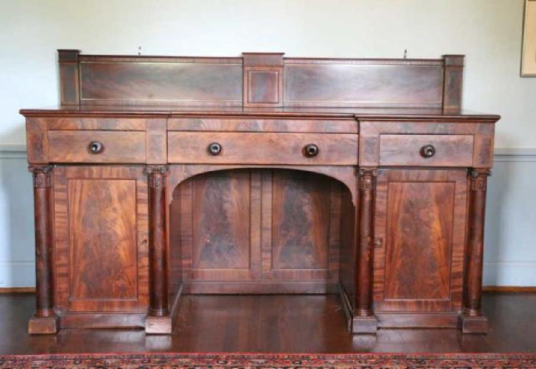 AMERICAN ANTIQUE MAHOGANY SIDEBOARD - 4