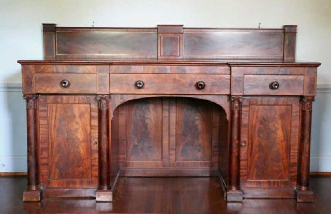 AMERICAN ANTIQUE MAHOGANY SIDEBOARD - 5