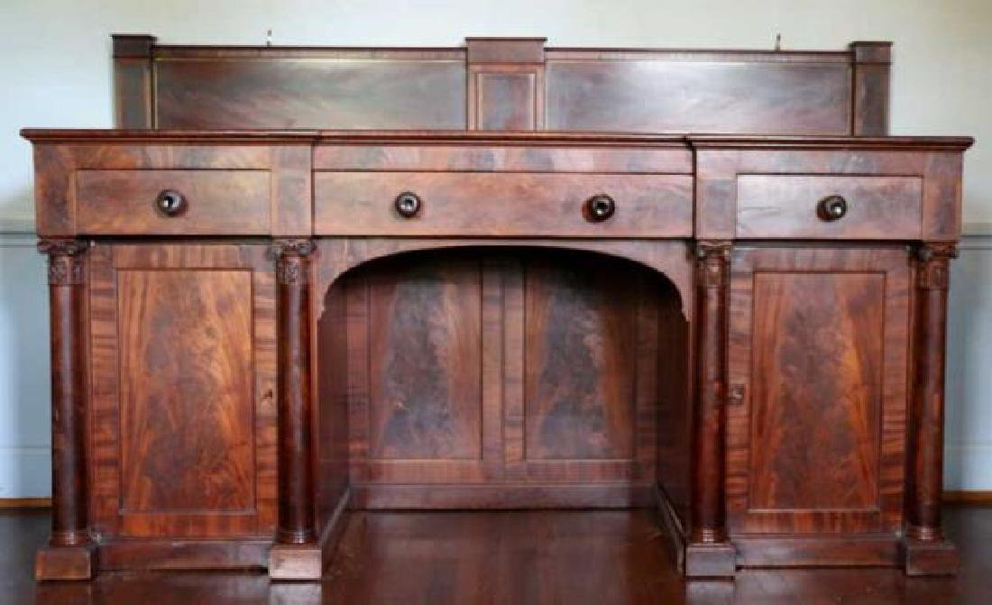 AMERICAN ANTIQUE MAHOGANY SIDEBOARD - 6