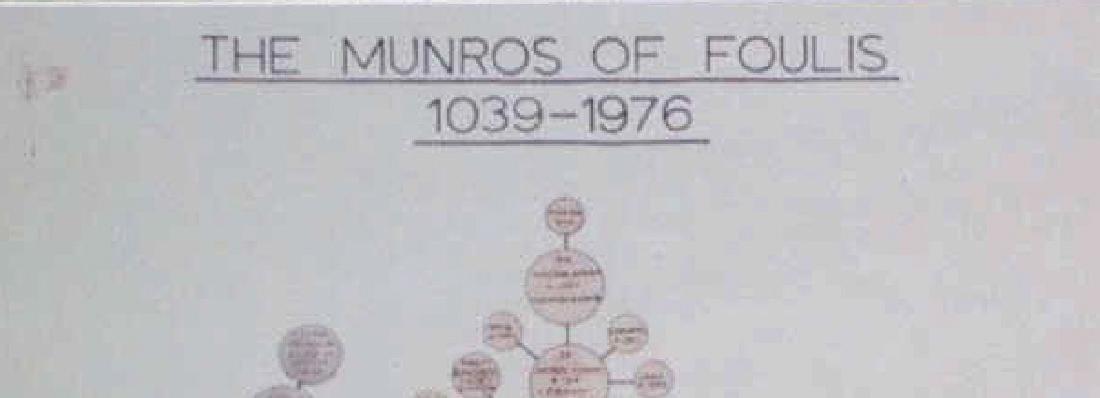 CLAN MUNRO SCOTTISH HIGHLANDS FAMILY TREE - 4