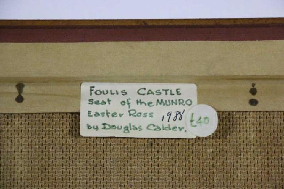 """DOUGLAS CALDER """"FOULIS CASTLE""""  OOB SEAT OF MUNRO - 10"""