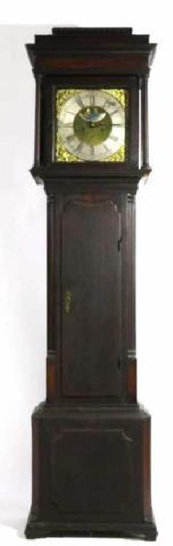 GEORGE HARDEY  ANTIQUE MOON PHASE CASE CLOCK