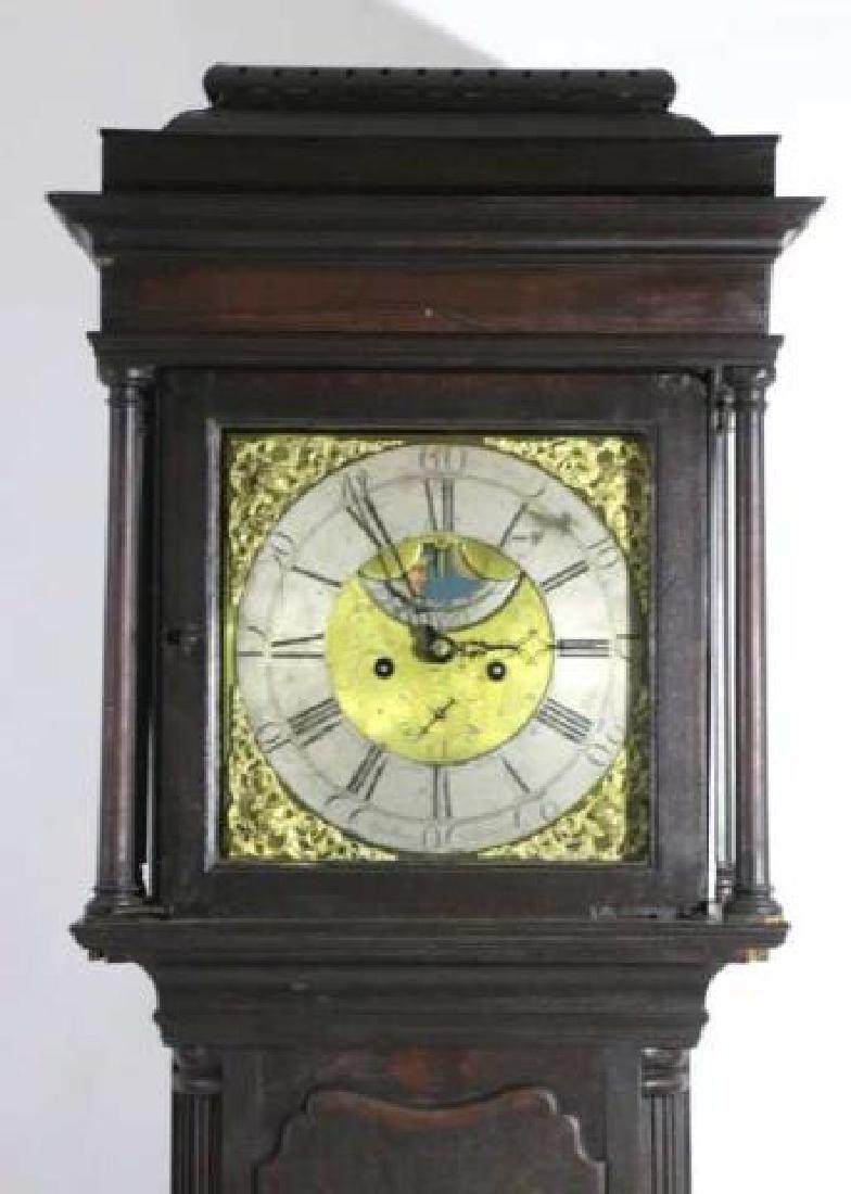 GEORGE HARDEY  ANTIQUE MOON PHASE CASE CLOCK - 2