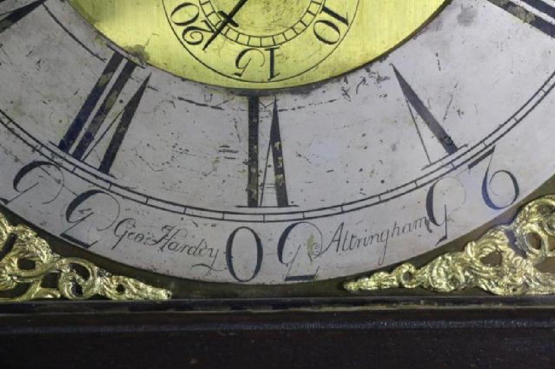 GEORGE HARDEY  ANTIQUE MOON PHASE CASE CLOCK - 3