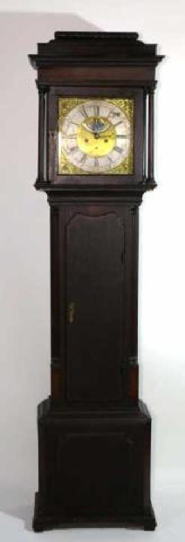 GEORGE HARDEY  ANTIQUE MOON PHASE CASE CLOCK - 6