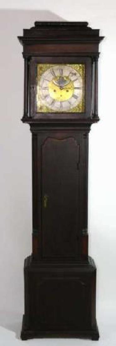 GEORGE HARDEY  ANTIQUE MOON PHASE CASE CLOCK - 7