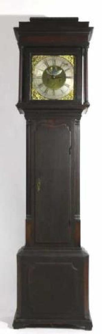 GEORGE HARDEY  ANTIQUE MOON PHASE CASE CLOCK - 8