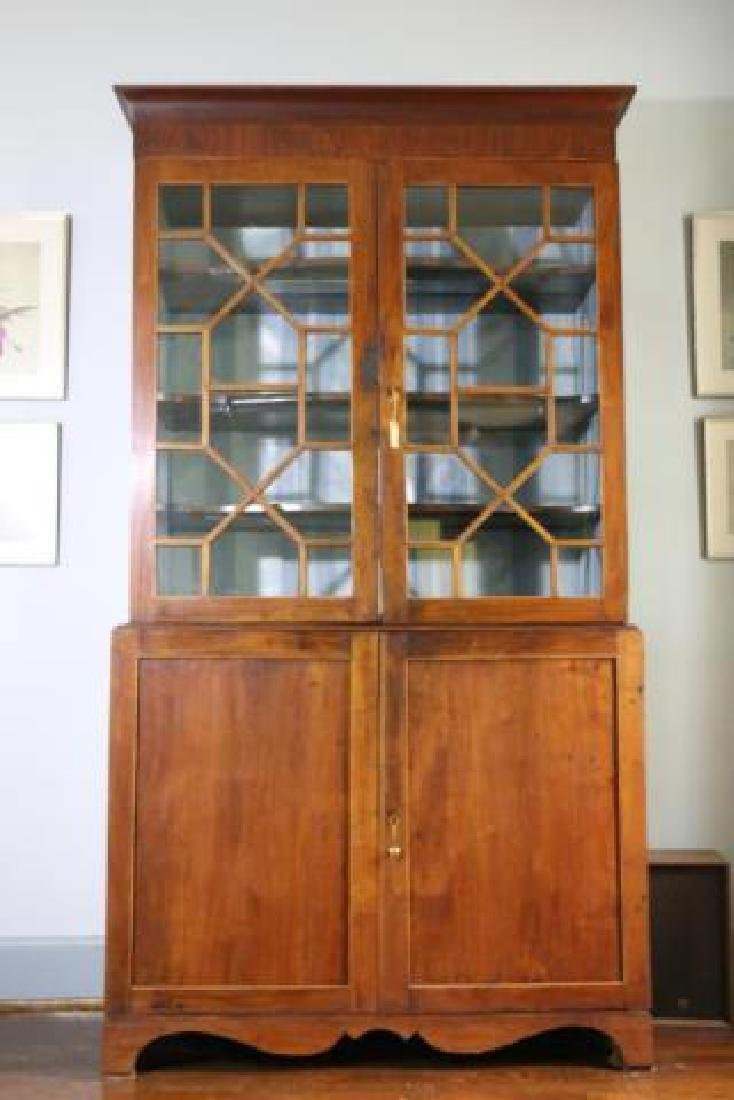 AMERICAN SOUTHERN ANTIQUE BOOKCASE