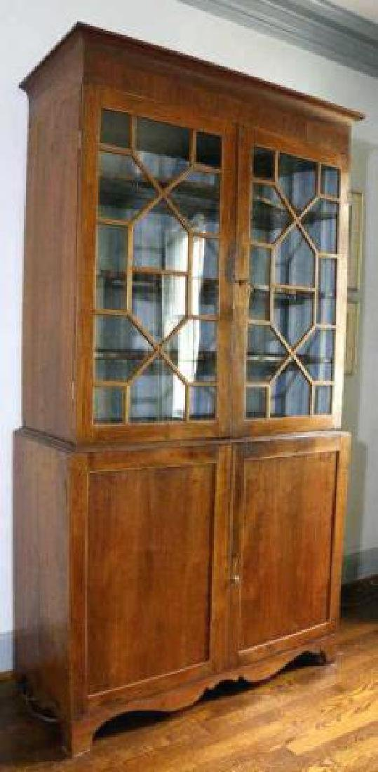 AMERICAN SOUTHERN ANTIQUE BOOKCASE - 7