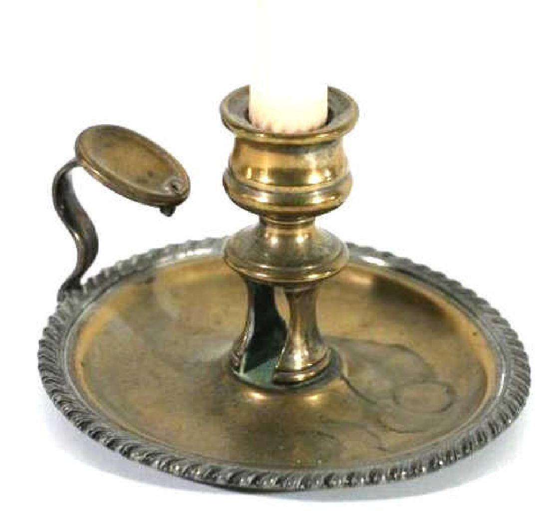 ENGLISH ANTIQUE ROSED SILVER CANDLE HOLDER - 2