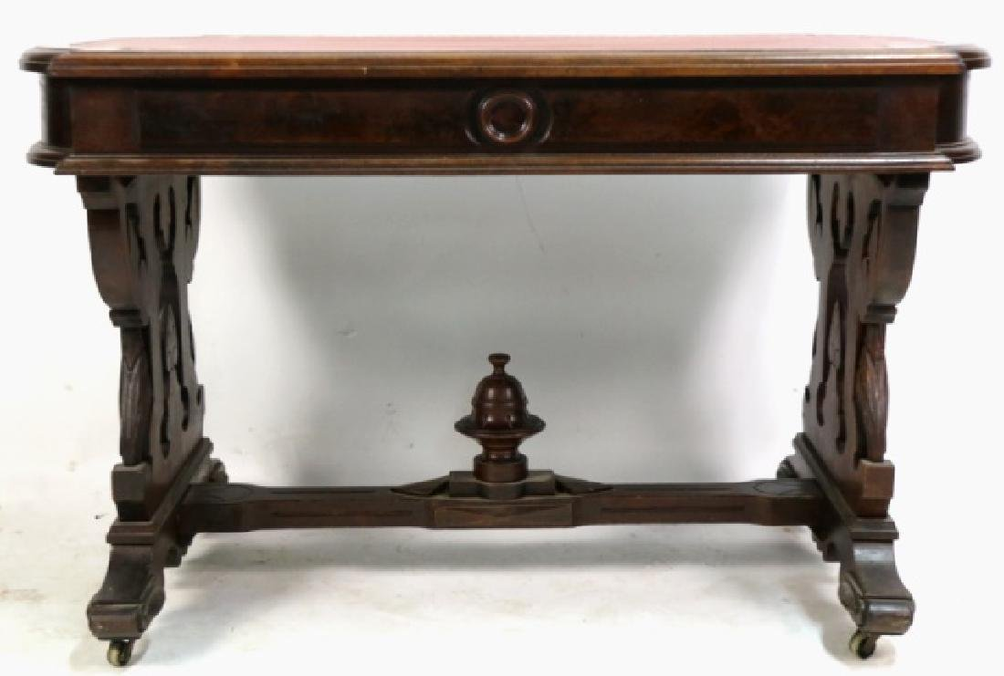 AMERICAN ANTIQUE VICTORIAN CARVED CENTER TABLE - 10