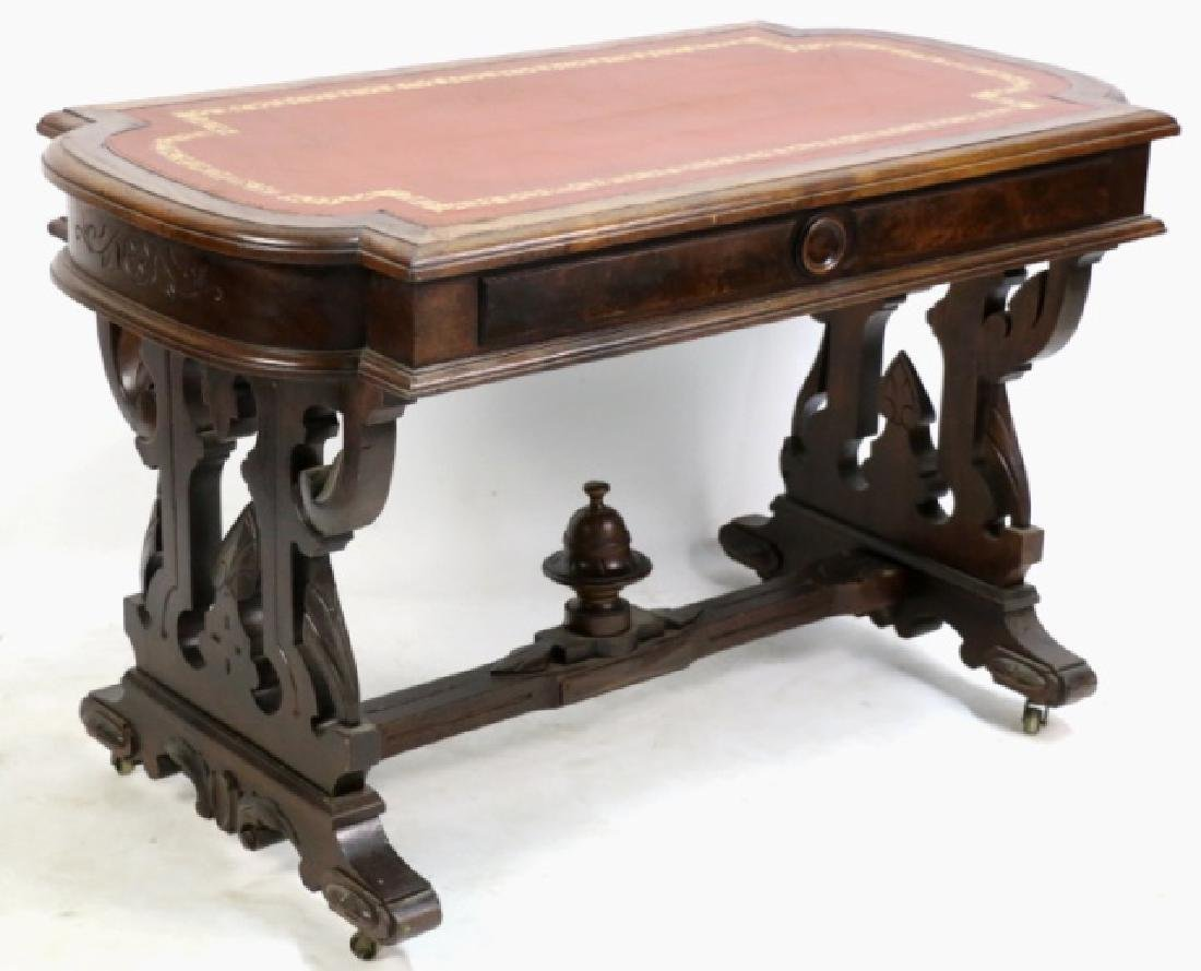AMERICAN ANTIQUE VICTORIAN CARVED CENTER TABLE