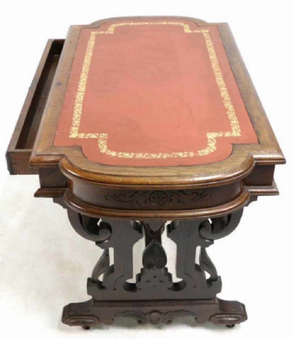 AMERICAN ANTIQUE VICTORIAN CARVED CENTER TABLE - 3