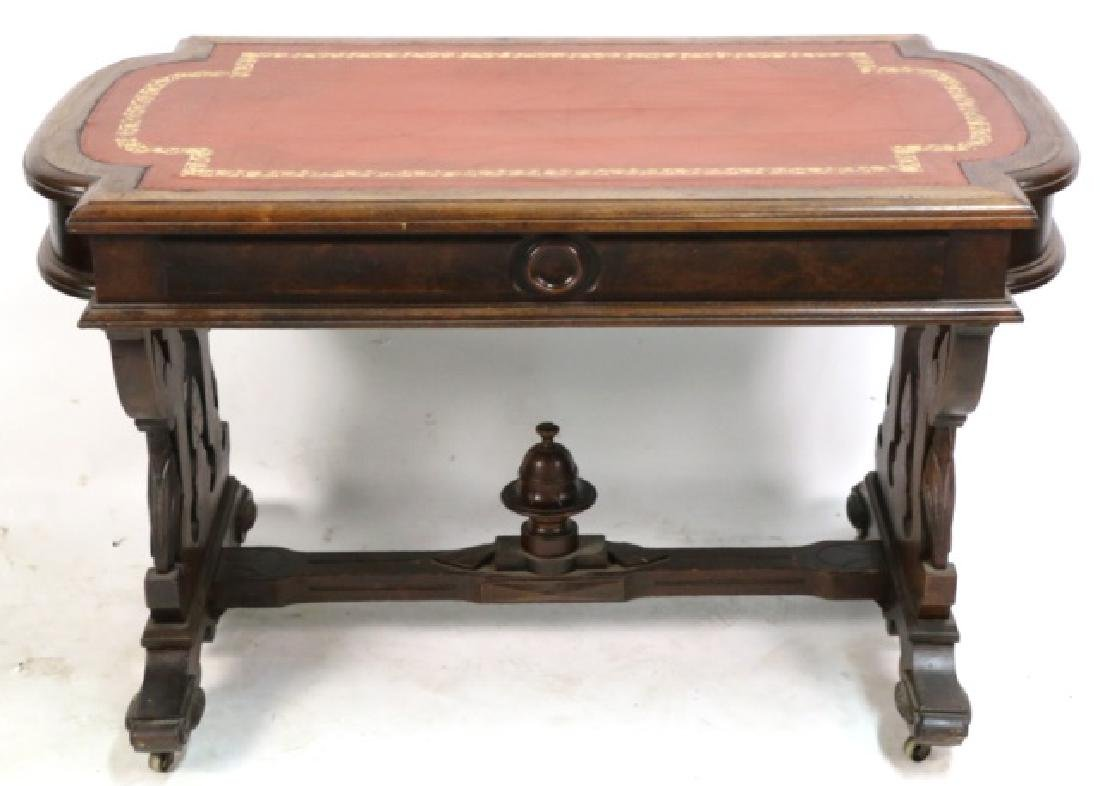AMERICAN ANTIQUE VICTORIAN CARVED CENTER TABLE - 7