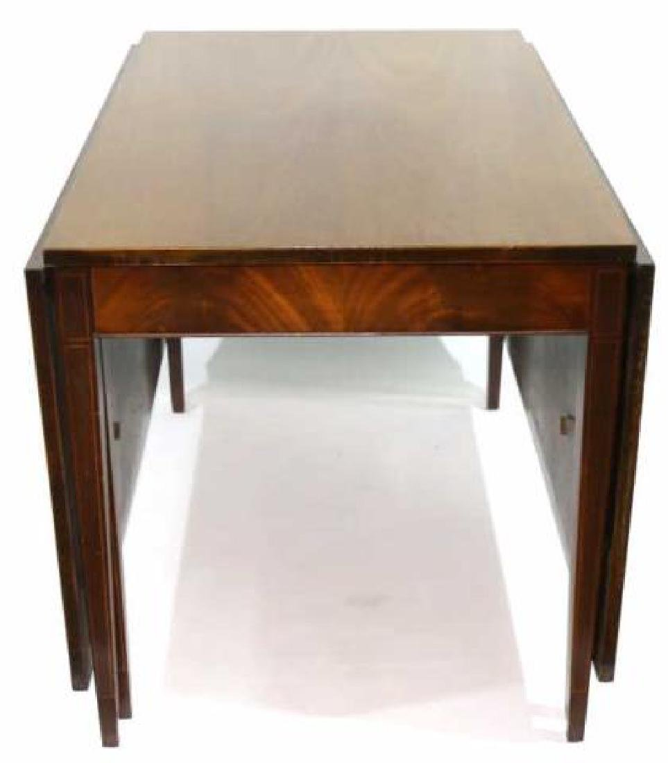 AMERCIAN MAHOGANY DROP SIDE DINING TABLE - 5