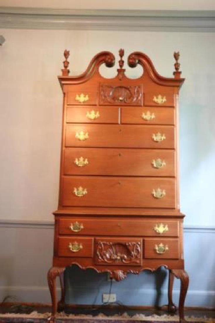 AMERICAN CHIPPENDALE CARVED MAHOGANY HIGHBOY - 4