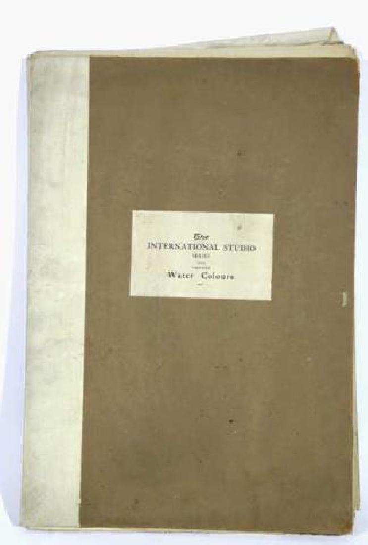 INTERNATIONAL STUDIOS ANTIQUE BOOK OF WATERCOLORS