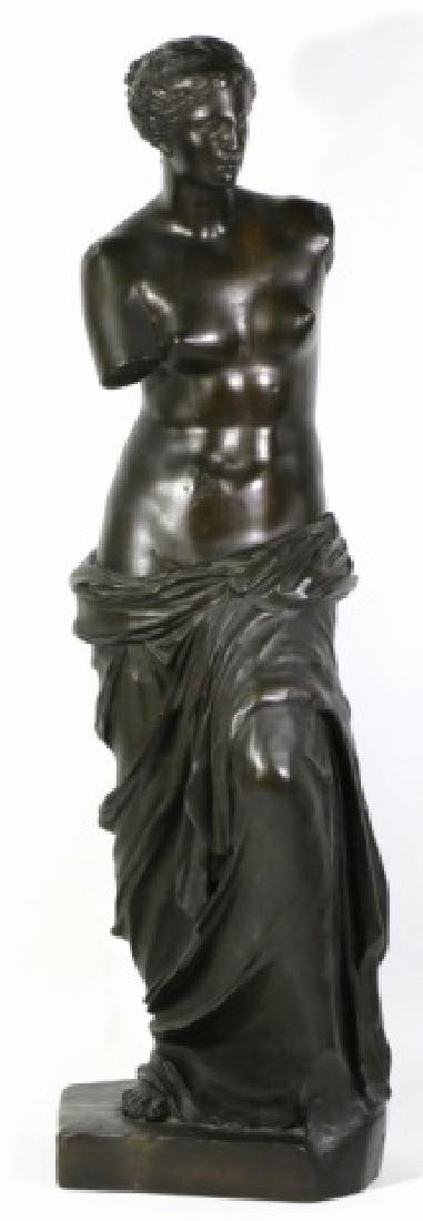TIFFANY & CO. BRONZE  SCULPTURE OF VENUS DE MILO
