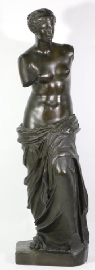 TIFFANY & CO. BRONZE  SCULPTURE OF VENUS DE MILO - 4