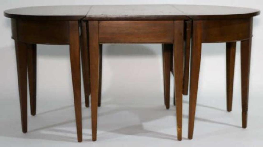 AMERICAN BLACK WALNUT HEPPLEWHITE SAMPLER TABLE - 3
