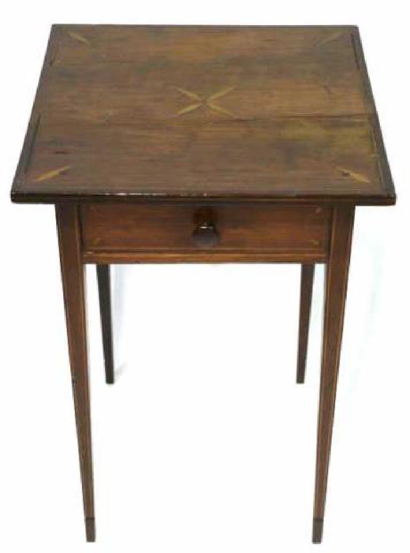 CHARLESTON HEPPLEWHITE SOUTHERN INLAID TABLE