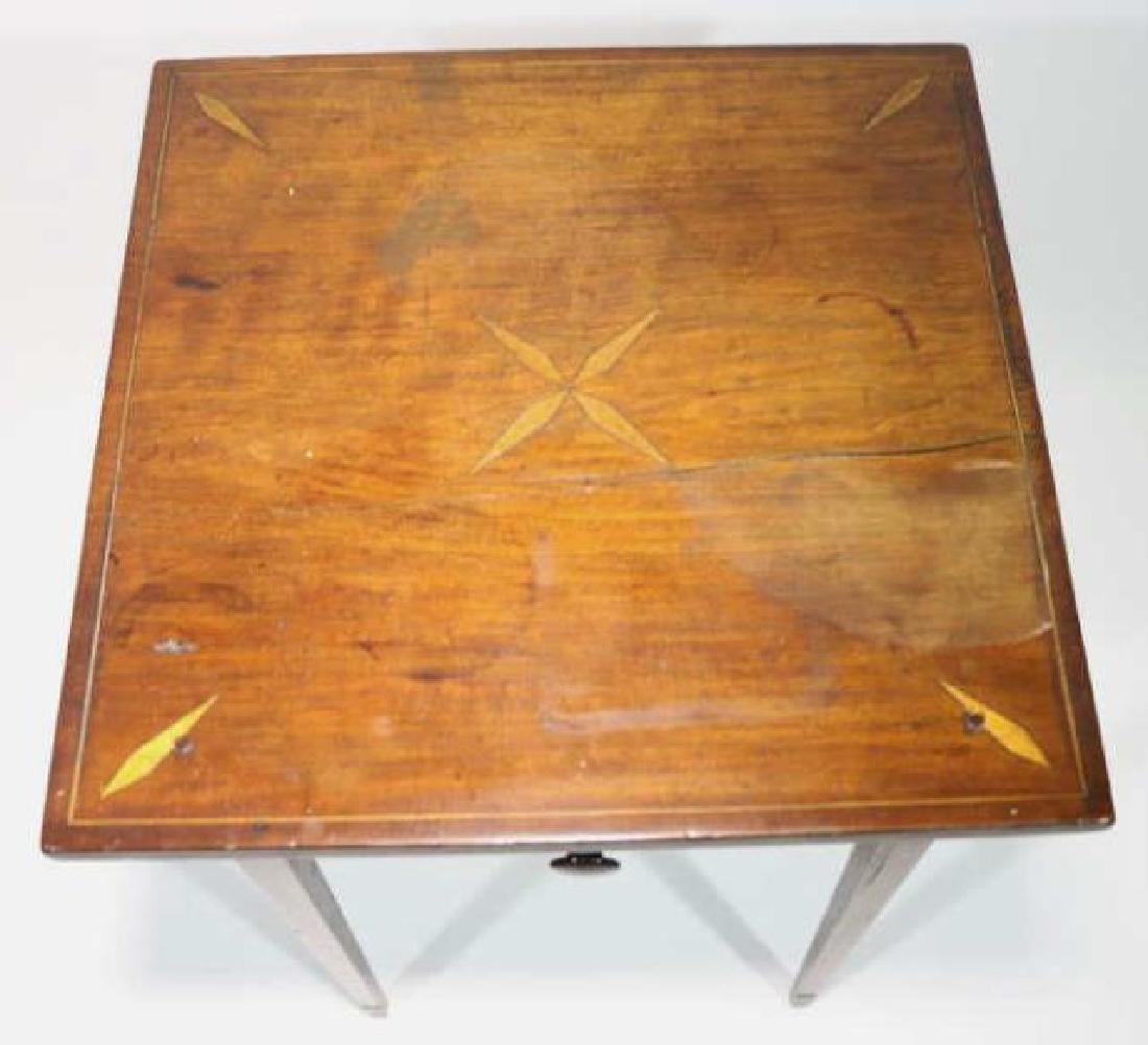 CHARLESTON HEPPLEWHITE SOUTHERN INLAID TABLE - 2