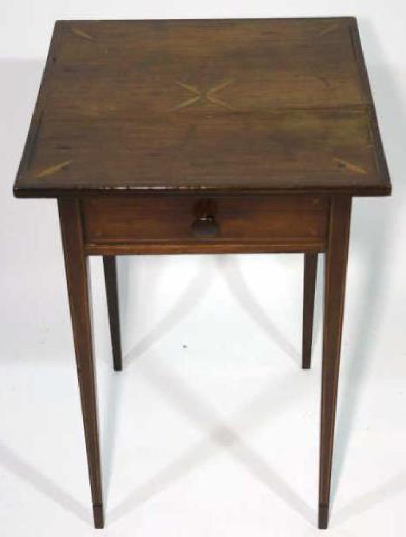 CHARLESTON HEPPLEWHITE SOUTHERN INLAID TABLE - 3