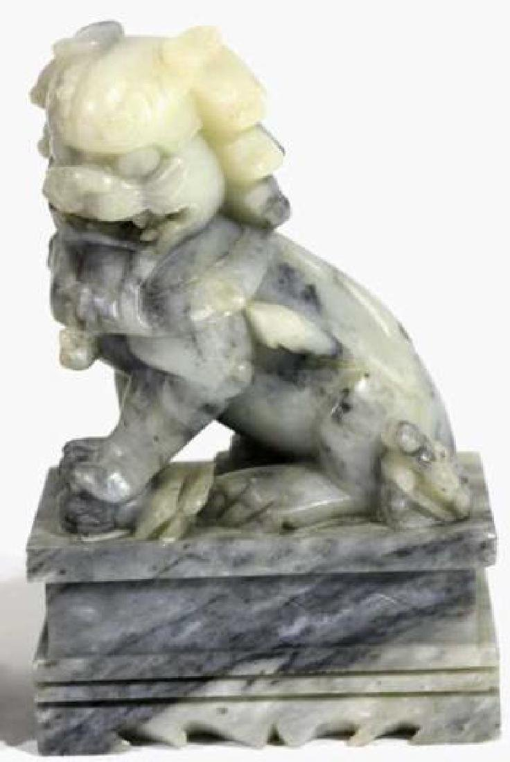 CHINESE ANTIQUE JADE FOO DOGS - 3