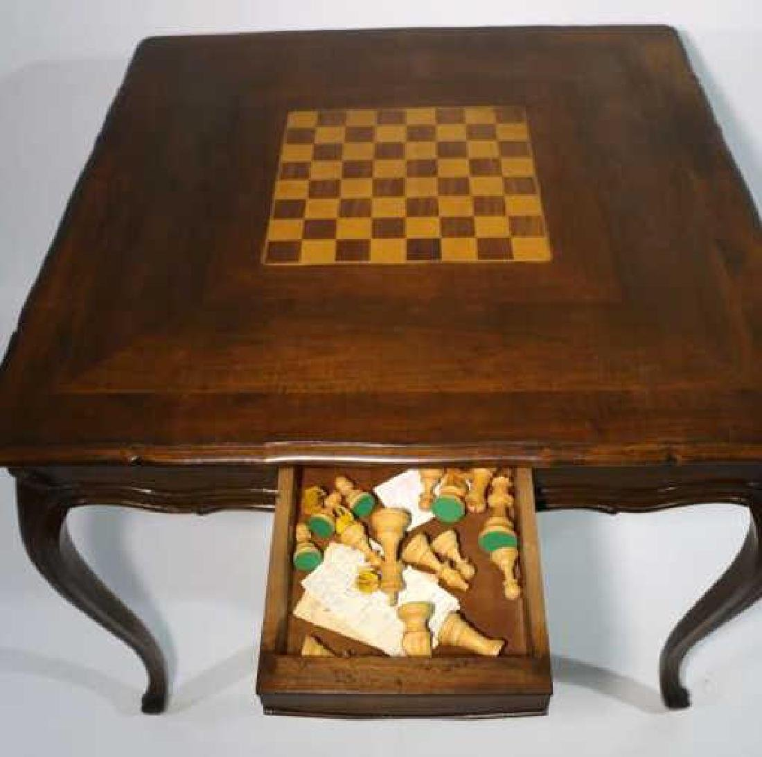 FRENCH ANTIQUE INLAID GAME TABLE - 2