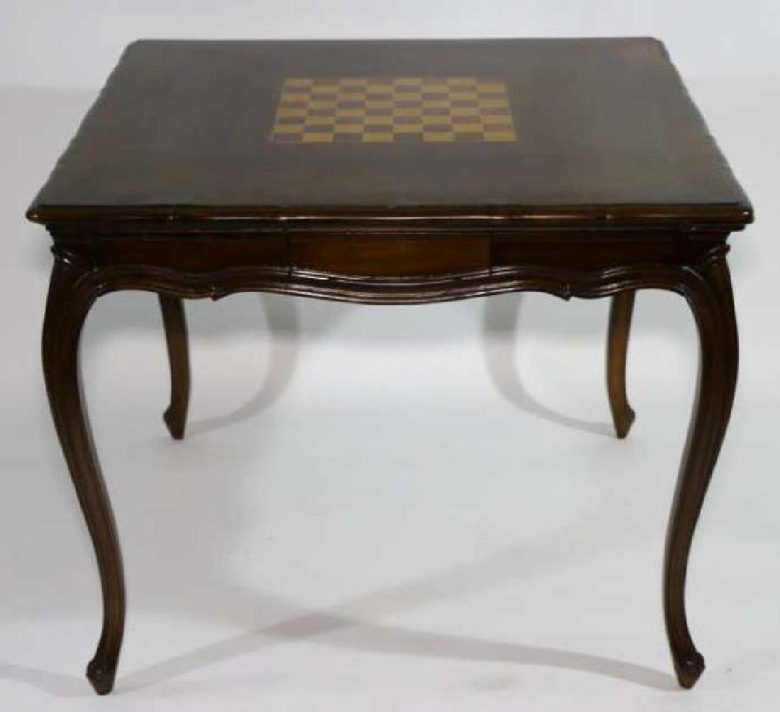 FRENCH ANTIQUE INLAID GAME TABLE - 3