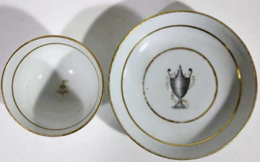 FRENCH 18TH /19TH C CUP & SAUCER - 5