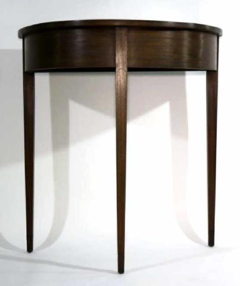AMERICAN ANTIQUE STRING INLAID DEMILUNE TABLE - 3