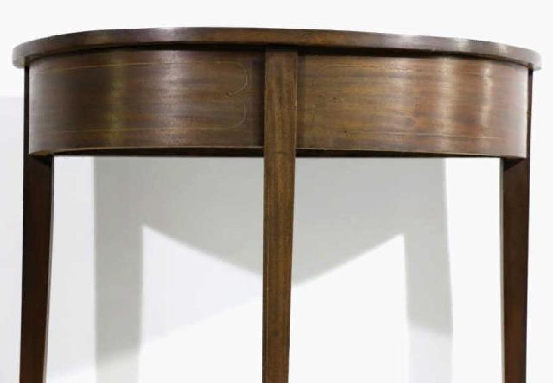 AMERICAN ANTIQUE STRING INLAID DEMILUNE TABLE - 6
