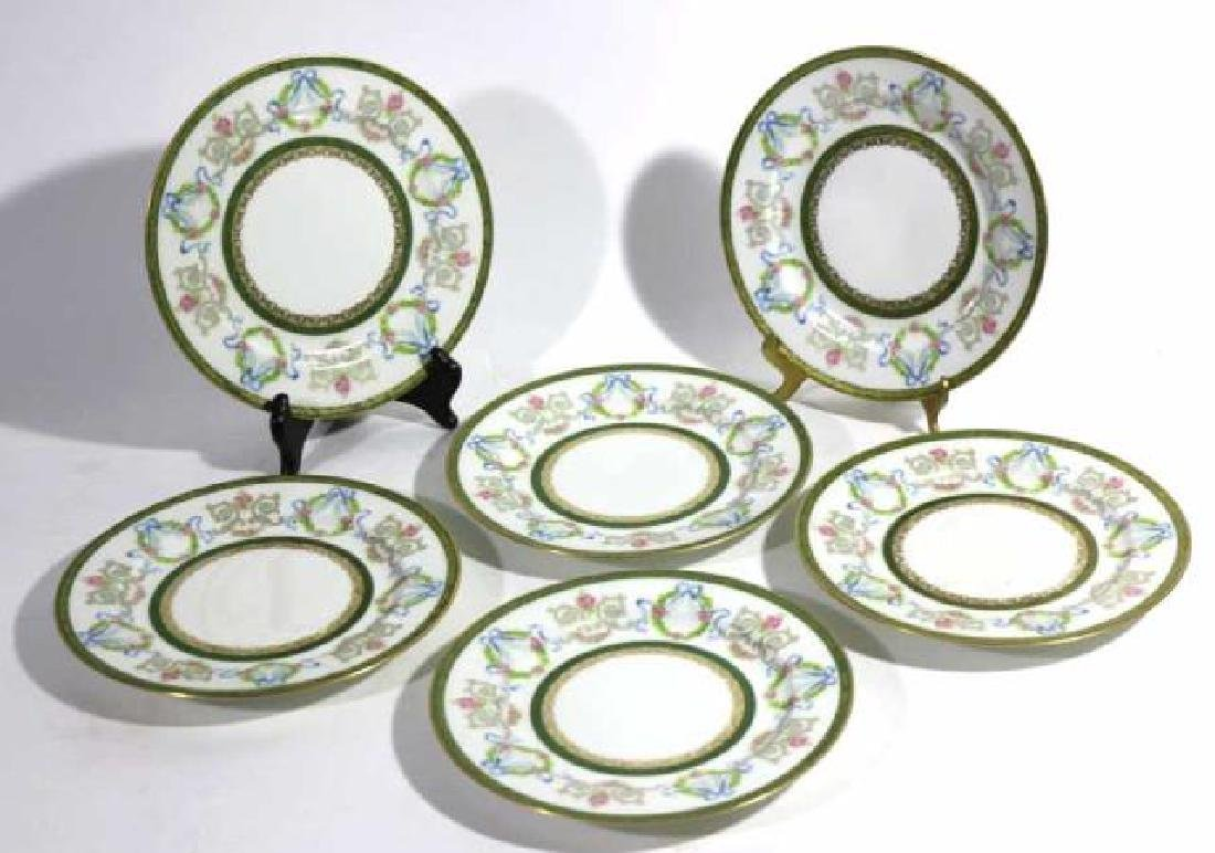 FRENCH JEAN POUYAT LIMOGES BREAD PLATES