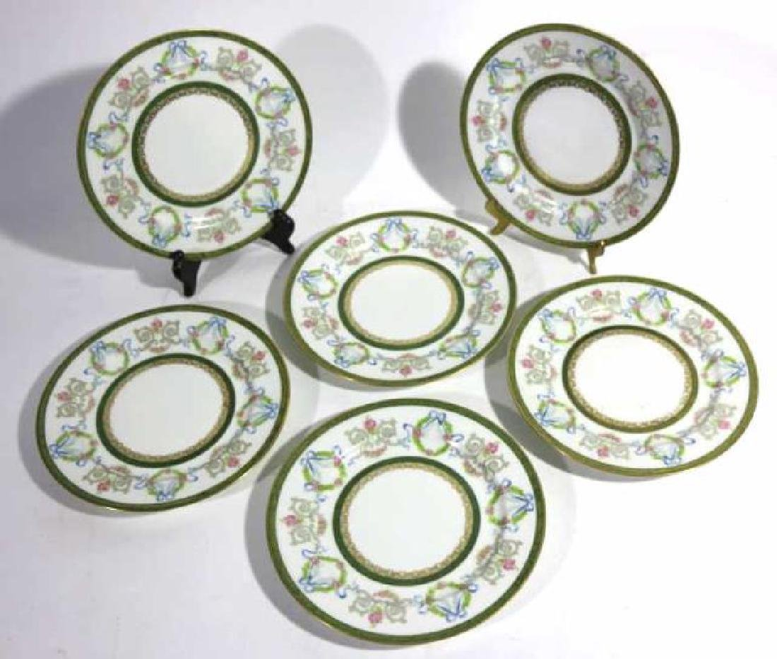 FRENCH JEAN POUYAT LIMOGES BREAD PLATES - 2