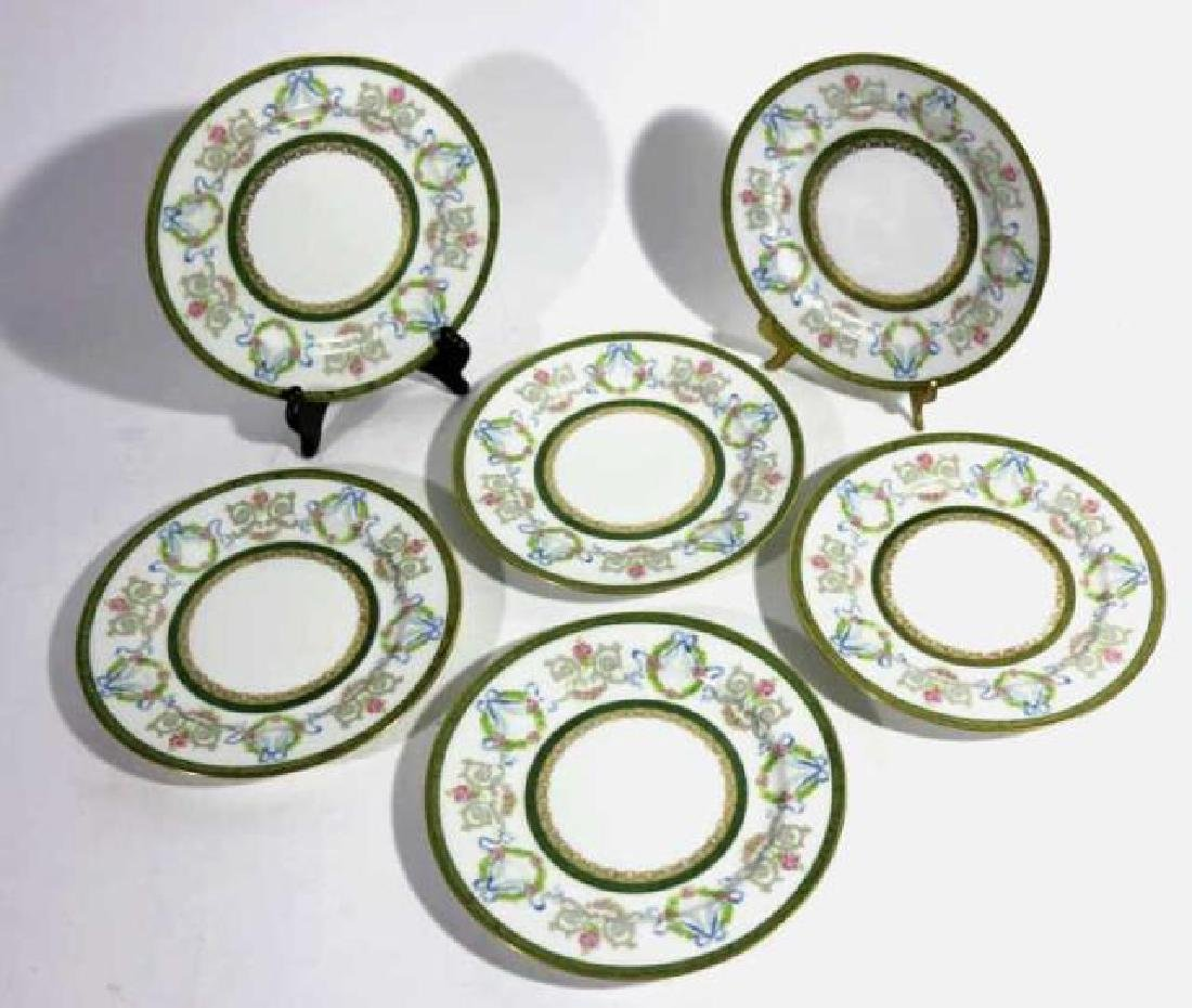 FRENCH JEAN POUYAT LIMOGES BREAD PLATES - 3