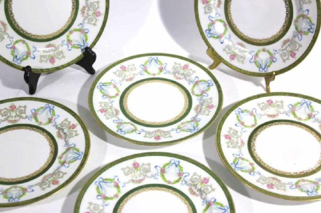 FRENCH JEAN POUYAT LIMOGES BREAD PLATES - 4