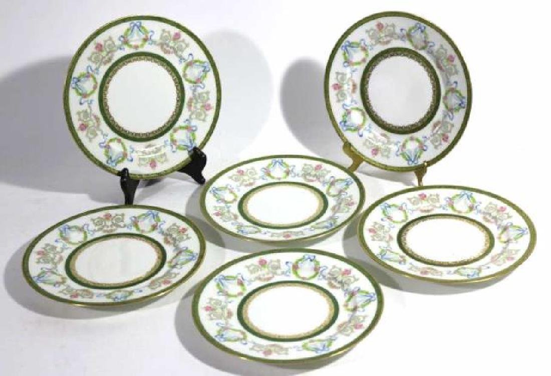 FRENCH JEAN POUYAT LIMOGES BREAD PLATES - 7