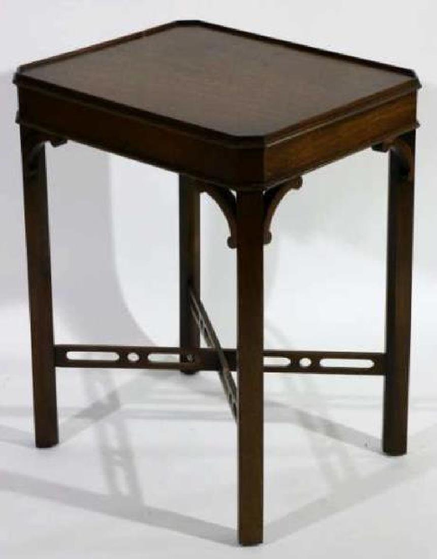 CHINESE CHIPPENDALE MAHOGANY SIDE TABLE