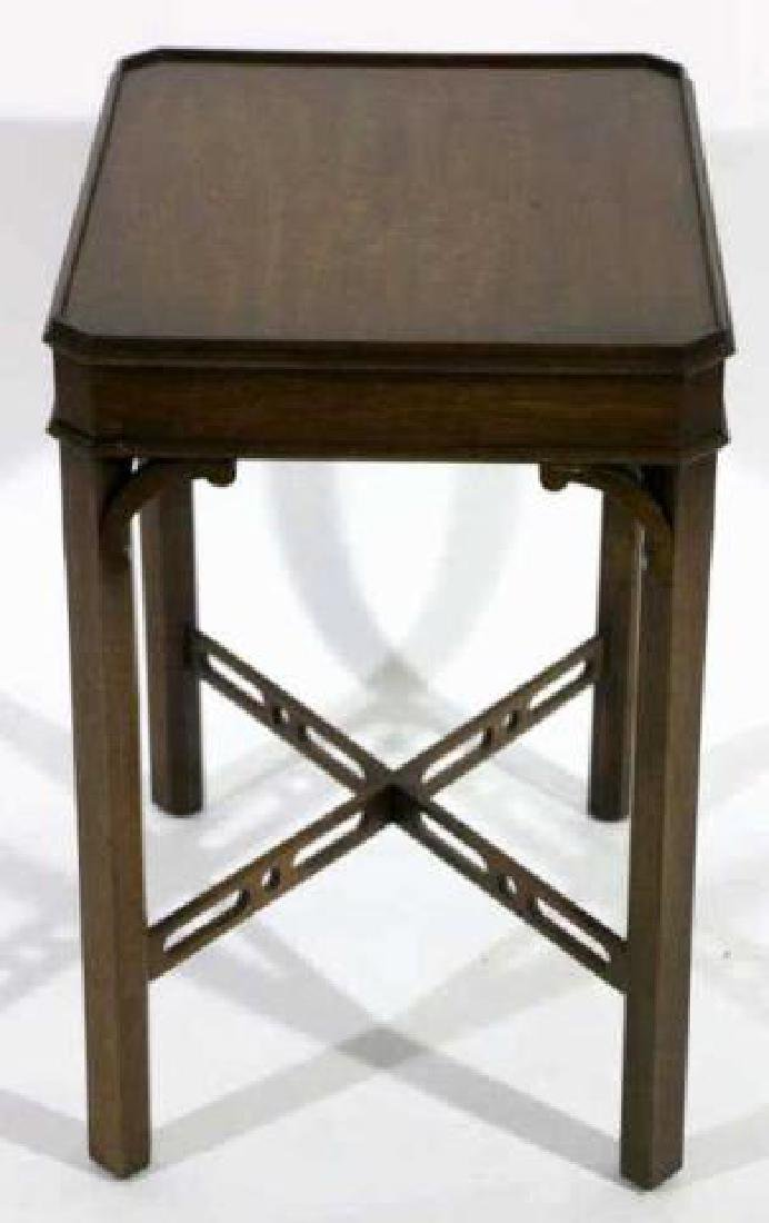 CHINESE CHIPPENDALE MAHOGANY SIDE TABLE - 2