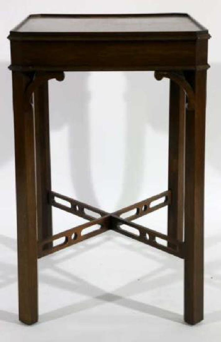 CHINESE CHIPPENDALE MAHOGANY SIDE TABLE - 3
