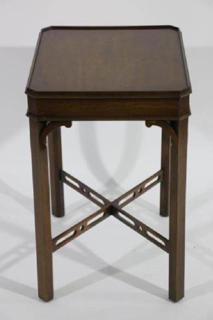 CHINESE CHIPPENDALE MAHOGANY SIDE TABLE - 4