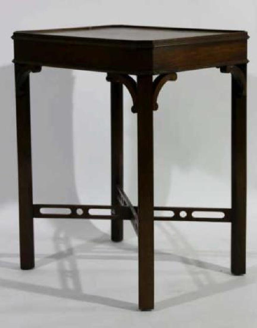 CHINESE CHIPPENDALE MAHOGANY SIDE TABLE - 5