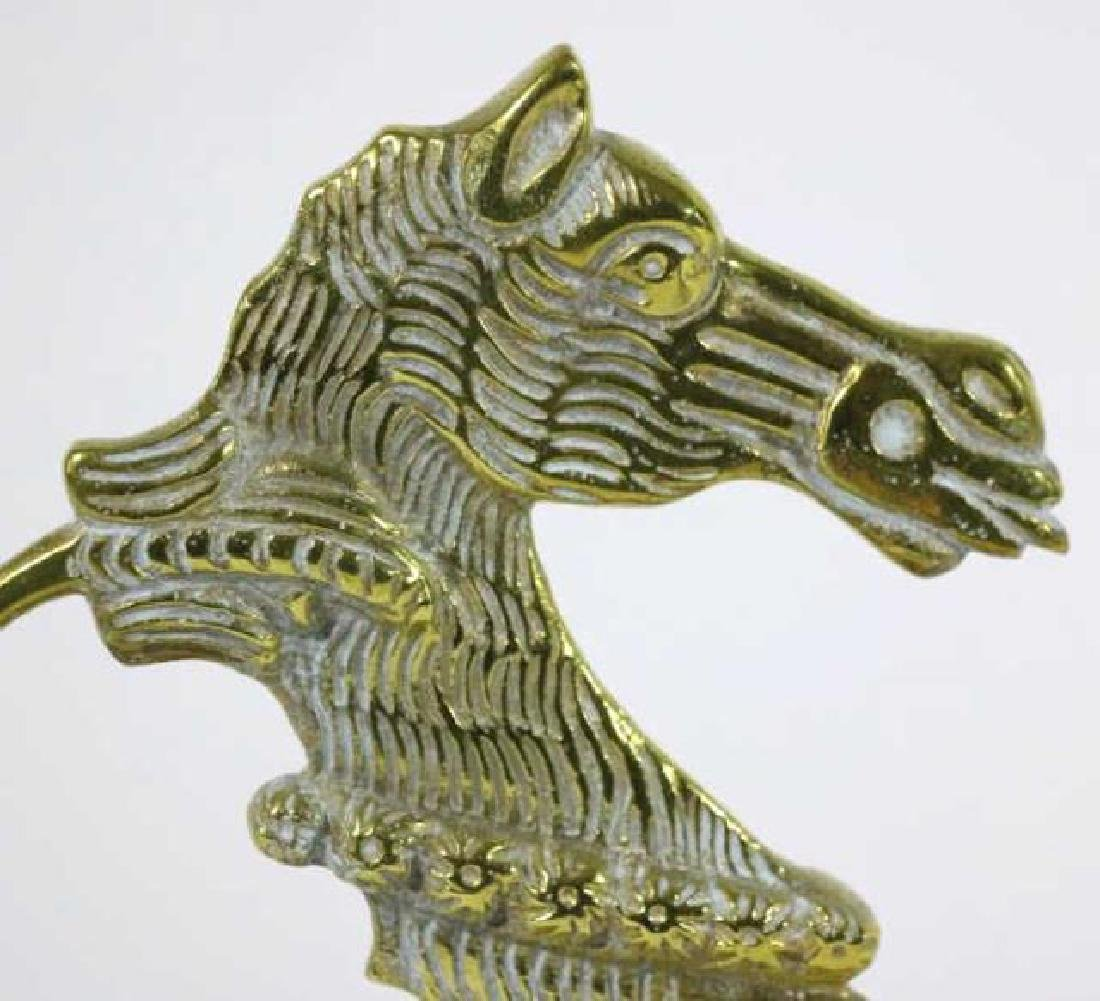 ANTIQUE BRASS SEAHORSE DOOR STOP - 3