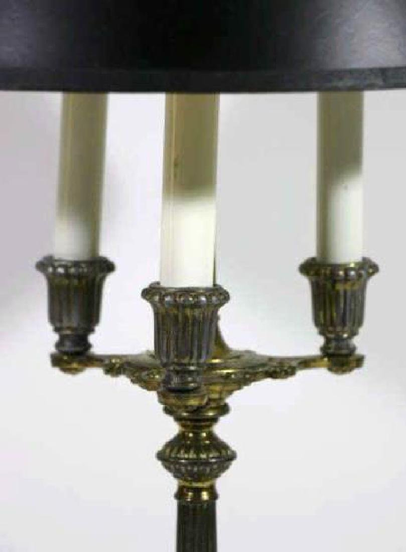 FRENCH BRONZE CLASSICAL CANDLEABRA LAMP - 4