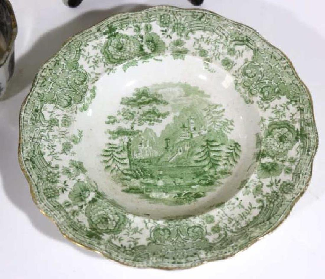 ANTIQUE ENGLISH TRANSFERWARE / IRONSTONE GROUPING - 5