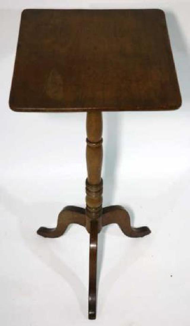 AMERCIAN ANTIQUE WALNUT SIDE TABLE - 2