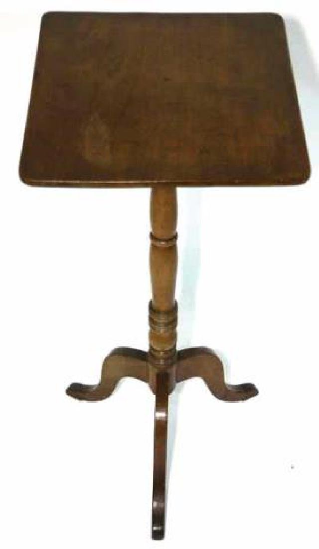 AMERCIAN ANTIQUE WALNUT SIDE TABLE - 4