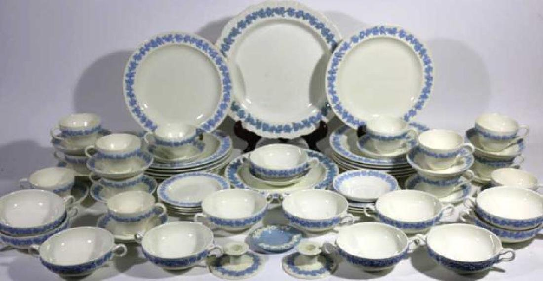 "ENGLISH ""EMBOSSED QUEENS WARE"" WEDGWOOD SERVICE - 10"